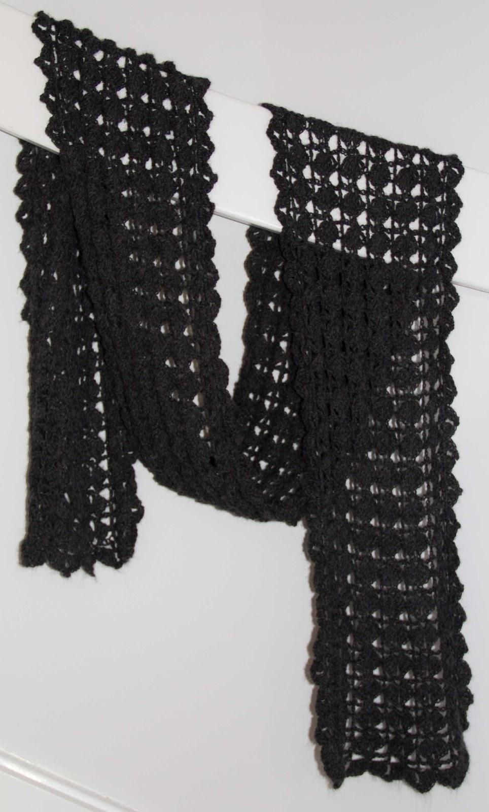 virkad halsduk gratis mönster