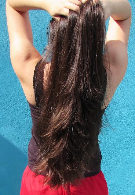 cabelo tratado com queratina