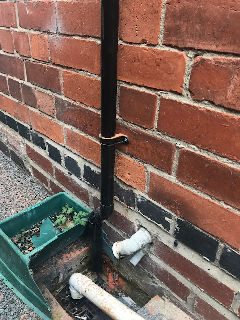 pipework on outside of house