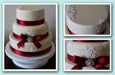 wedding cake brooches