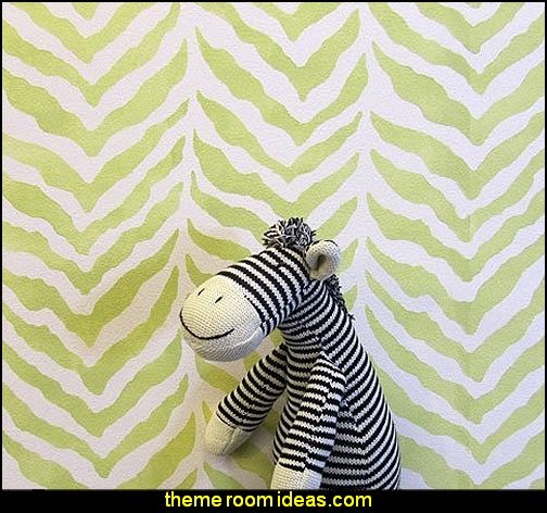 Zebra Stripe Allover Stencil