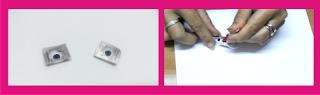 Ojitos móviles hechos con blister de pastillas