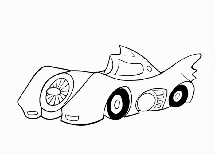 Batmobile Coloring Page Free Coloring Pages And Coloring