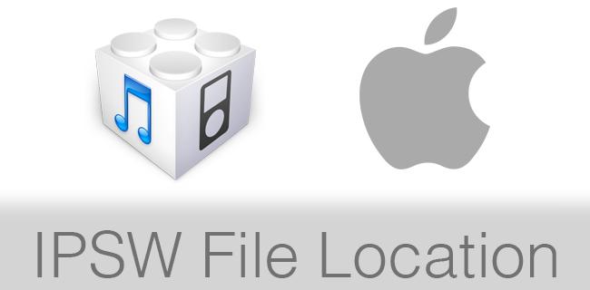 IPSW File Location