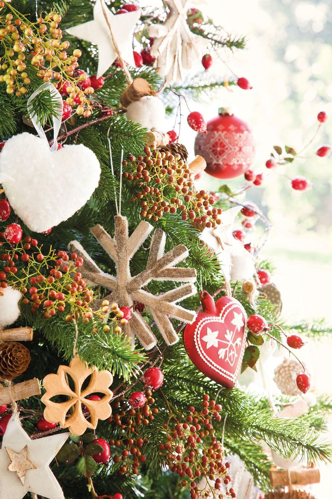 Me lo dijo fani rojo y verde los colores de la navidad - Arbol navidad blanco ...