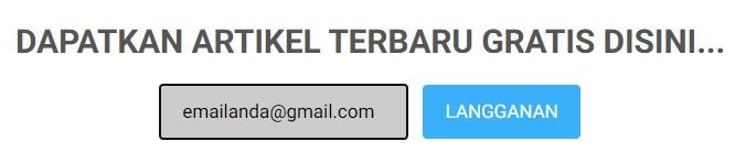 Cara Subscribe Artikel di Blog (Berlangganan)