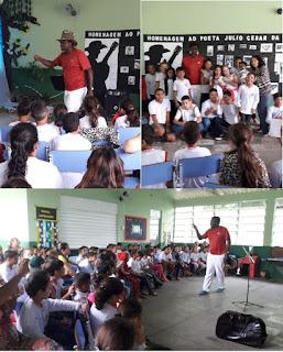 Poeta Júlio Cesar da Costa é homenageado por escola municipal de Miracatu