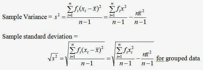 introduction to statistics calculation of variance and standard