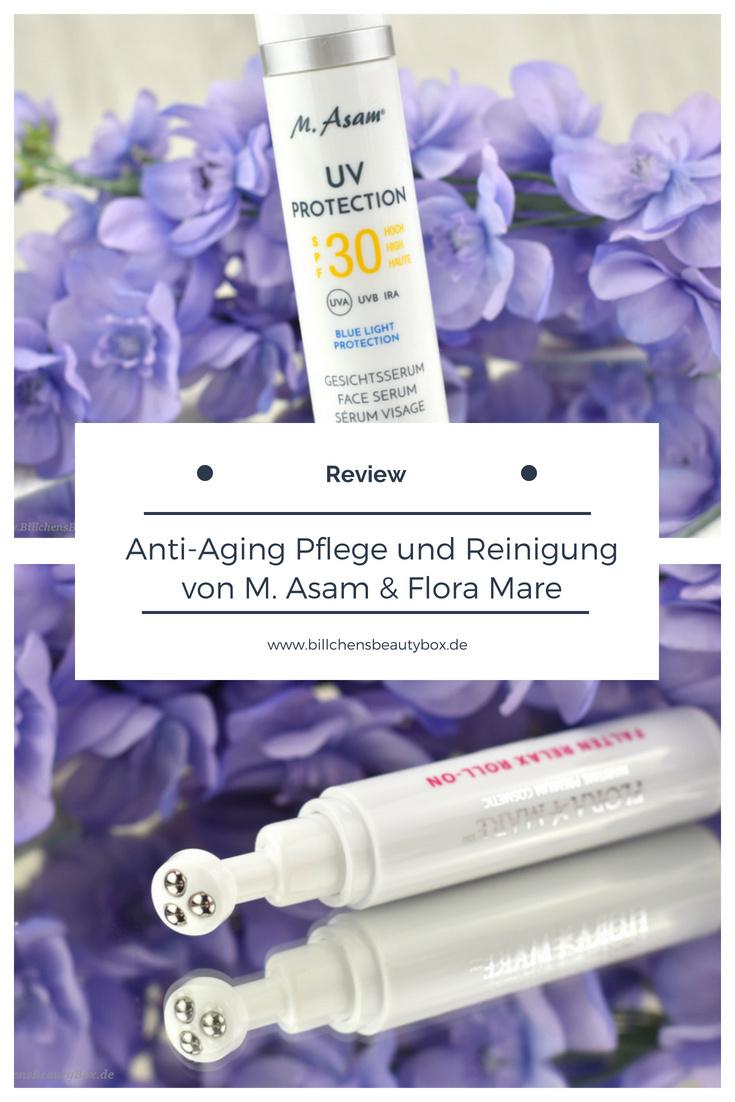 Neuheiten M. Asam & Flora Mare - Anti-Aging UV Protection Serum und Falten Relax Pflege und Reinigung