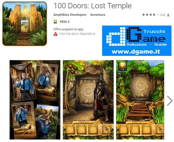 Soluzioni 100 Doors: Lost Temple di tutti i livelli | Walkthrough guide