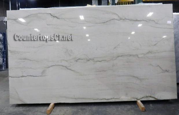 3cm lunar white quartzite