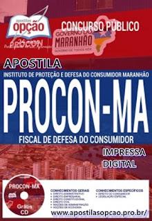 Apostila Procon-MA 2017 concurso Fiscal de Defesa do Consumidor