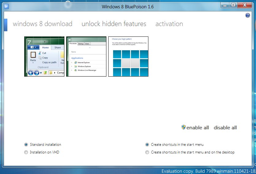 View topic bluepoison 1. 6. 1 for windows 8 7989 betaarchive.