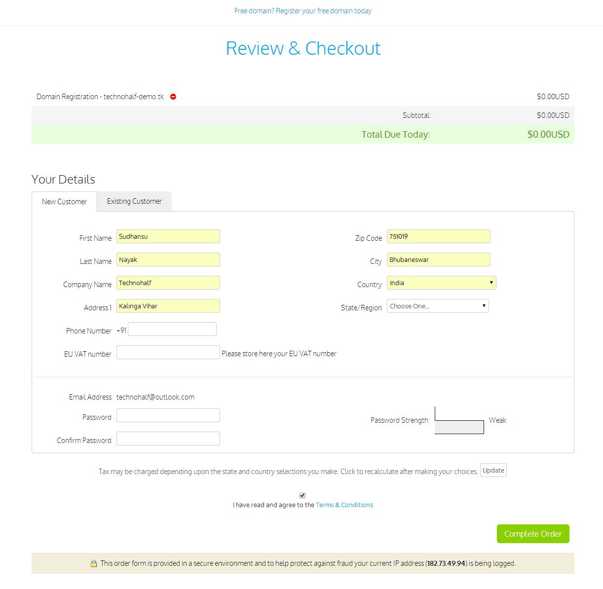 HOW to Setup Custom DOT tk Domain