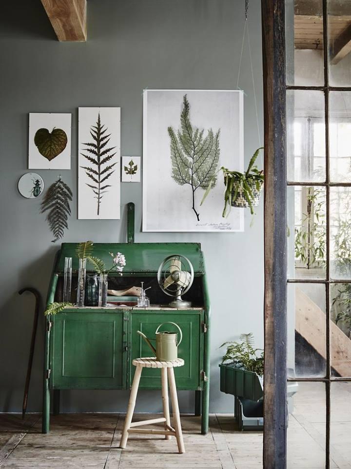 El verde en la decoración