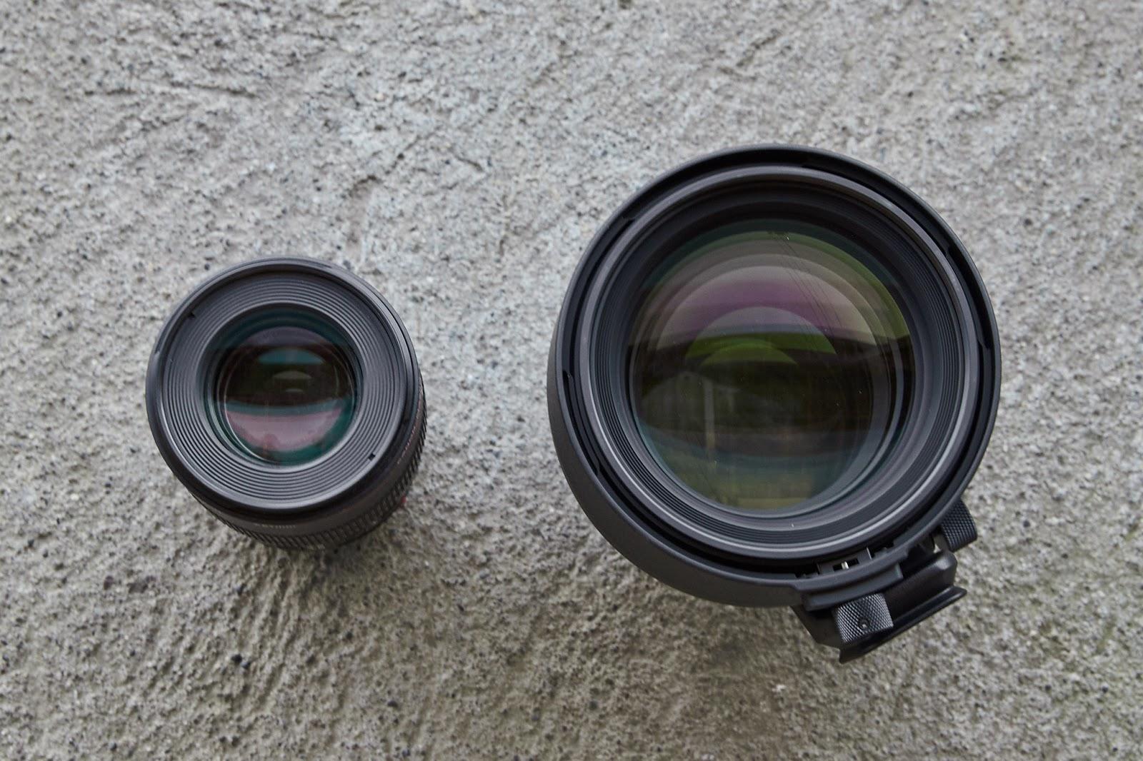 Объектив Sigma 105mm f/1.4 Art в сравнении с Canon 100mm f/2.8L Macro