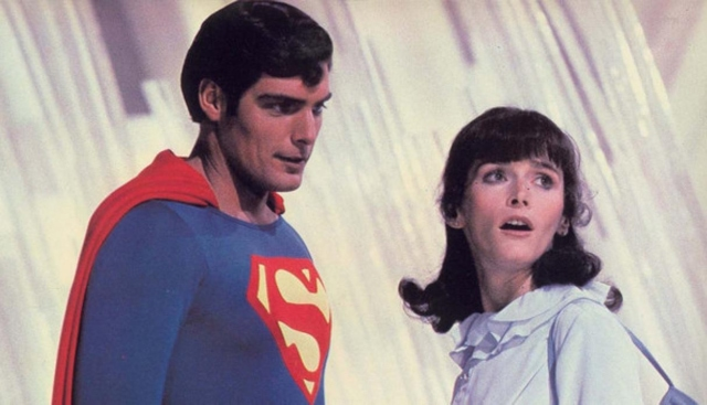 "Christopher Reeve y Margot Kidder en ""Superman"""