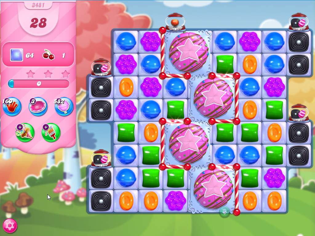 Candy Crush Saga level 3481