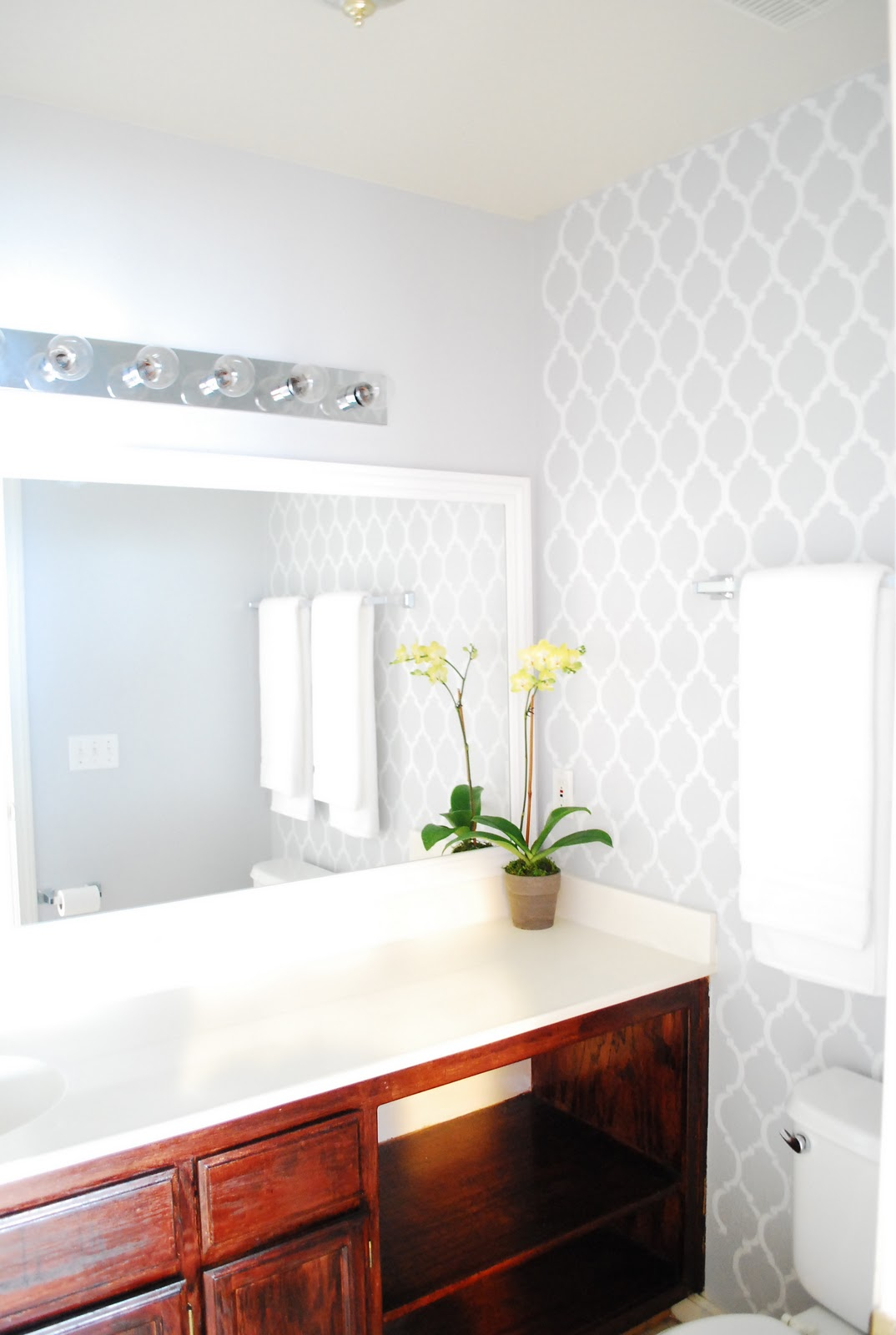 Bathroom Wall Mirrors Large: DIY Bathroom Makeover