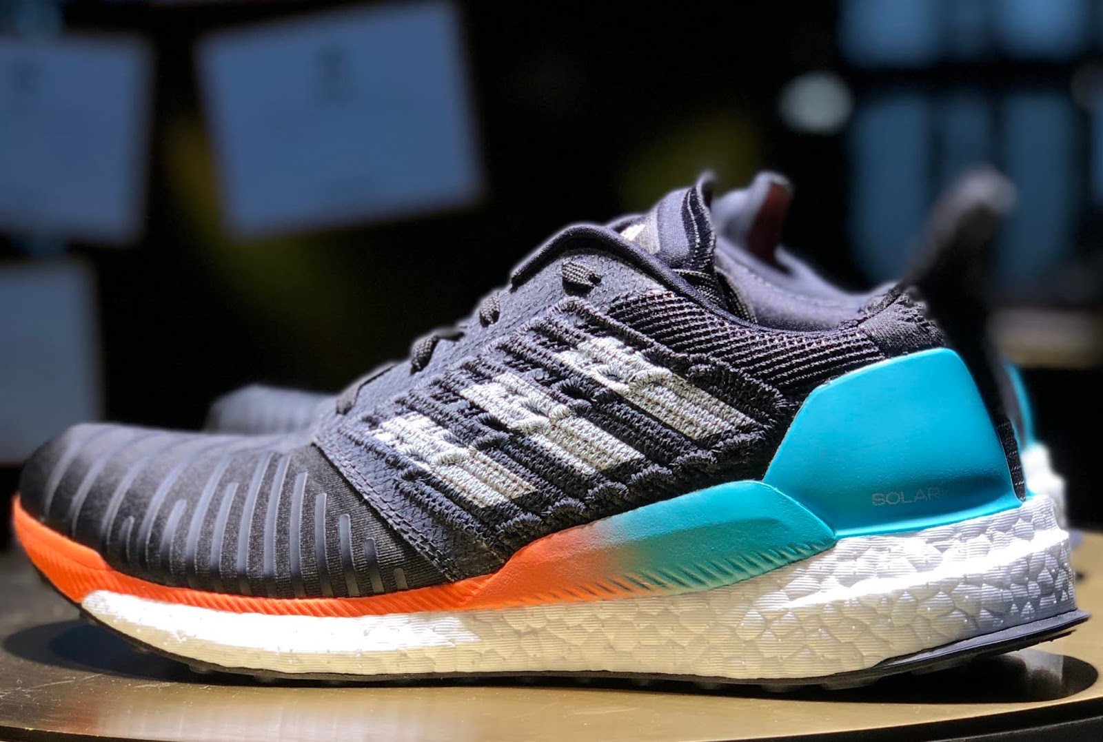 premium selection d2842 49b81 The adidas Solar Boost, was inspired, at least in part, by NASA engineering  and is one of the new lightweight running shoes (295 grams - 10.4 ounces in  a ...
