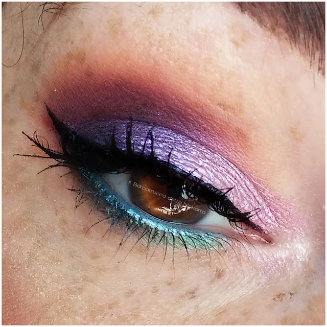 miss trucco eyeshadow palette ombretti terra e acqua mix perfetto viola bronzo  eyes