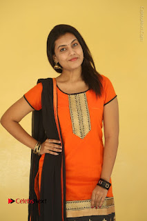 Telugu Actress Chandana Stills in Salwar Kameez at Karam Dosa Movie Press Meet  0020.JPG