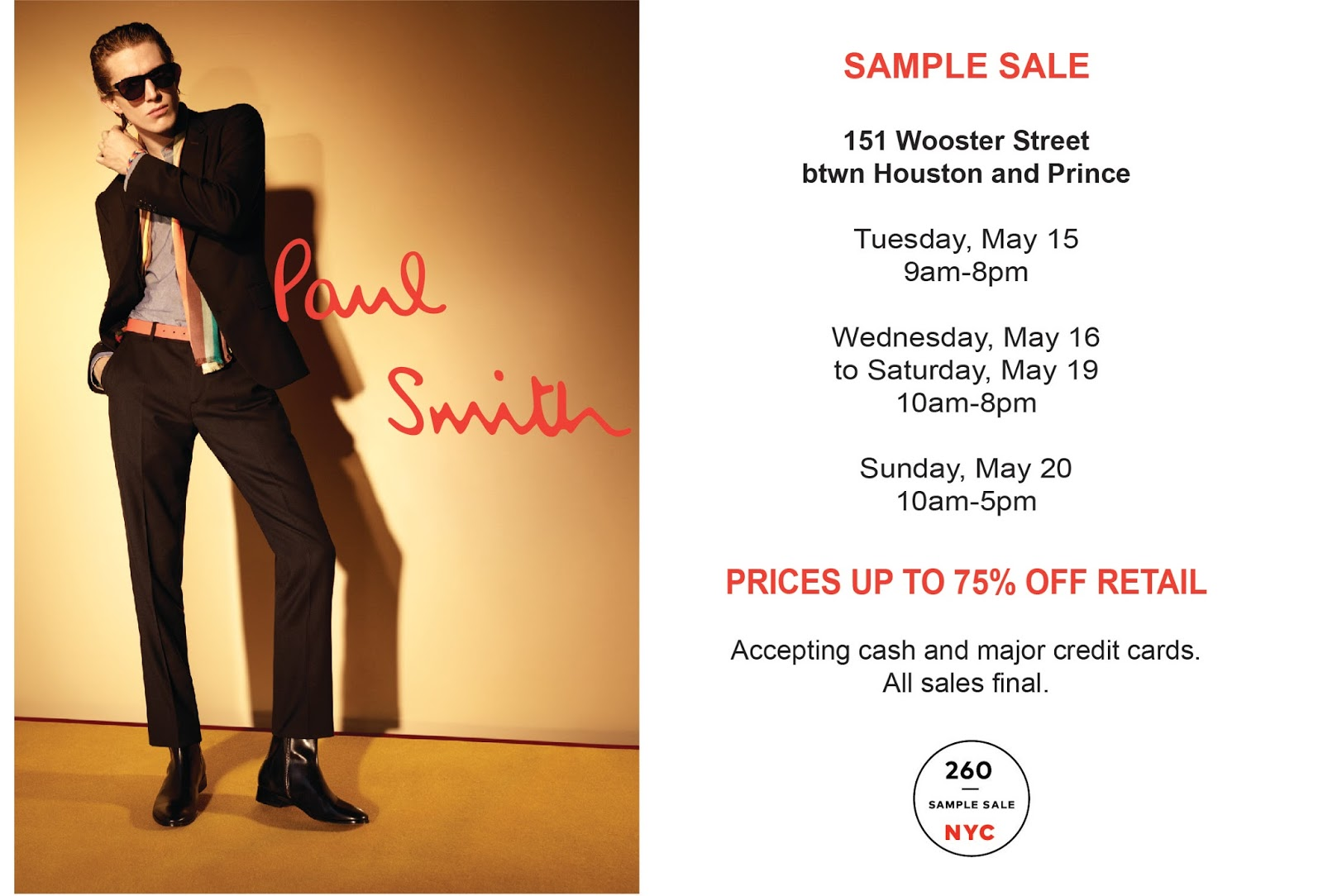 Mizhattan sensible living with style: *sample sale* paulish up.
