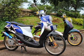 Modifikasi Motor Matic Fino