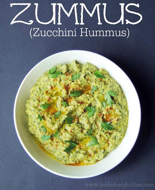 Zummus (Zucchini Hummus) from www.bobbiskozykitchen.com
