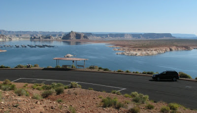 Lake Powell ved Page i Arizona.