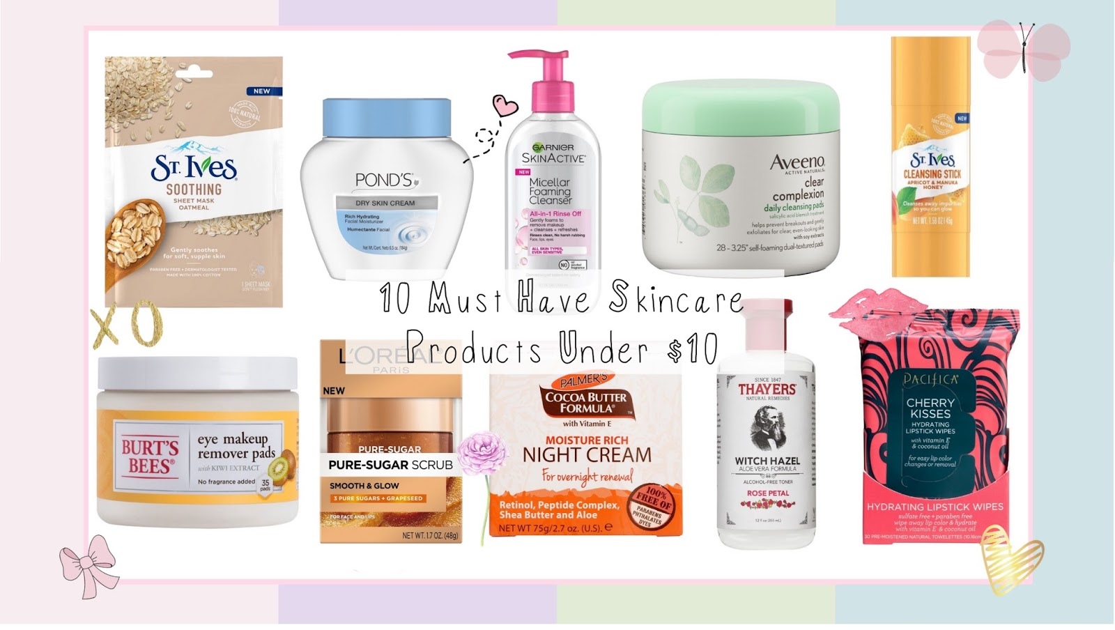 10 Skin Saving Beauty Products Under10