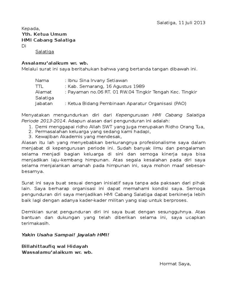 Contoh Surat Pengunduran Diri Kader Posyandu Berbagi Contoh Surat