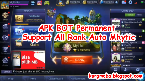 APK BOT Permanent Support All Rank Auto Mhytic