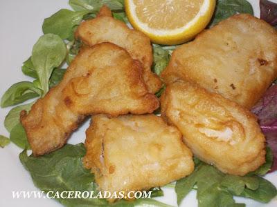 Bacalao en tempura