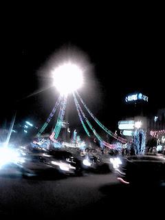lumières au carrefour