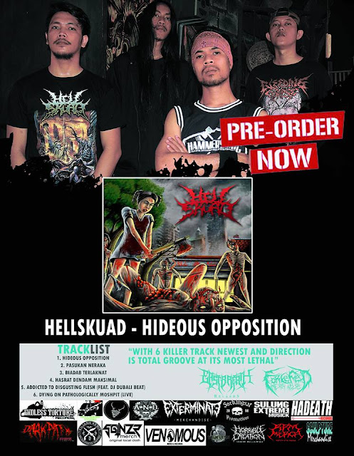 Detail from Hellskuad New EP, Hideous Opposition, Detail from Hellskuad New EP Hideous Opposition