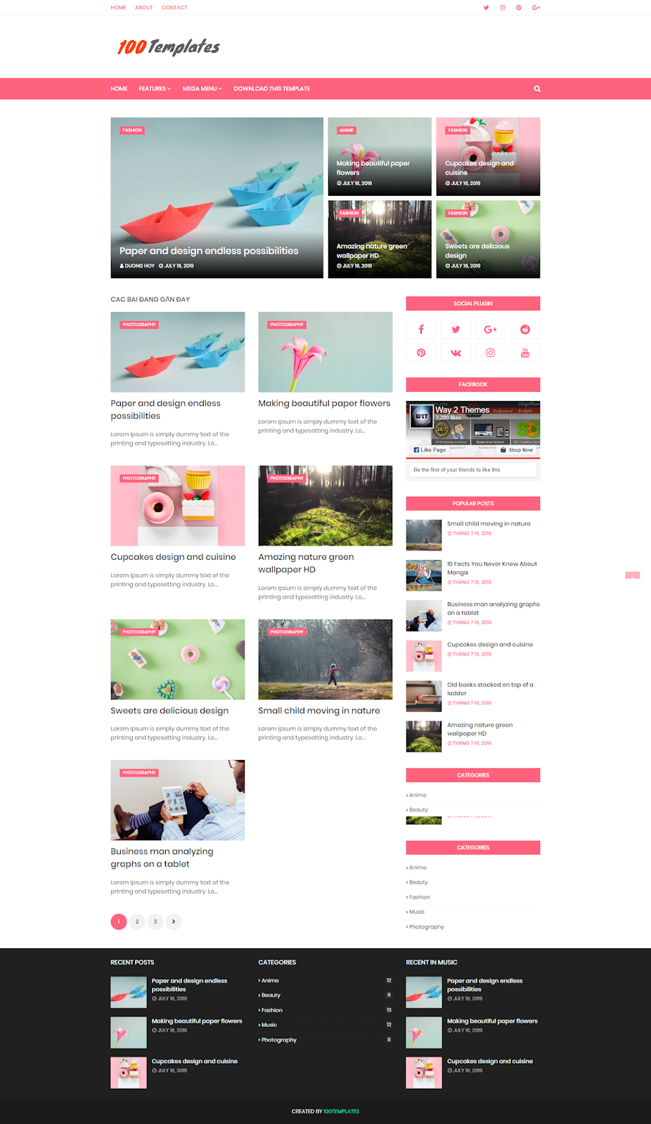 Cream Blogger Template Free Download
