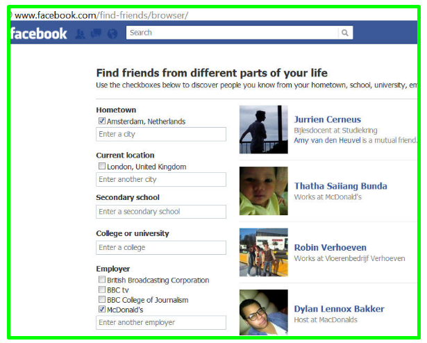 Search for Friends On Facebook by Location - DaftarEmail com