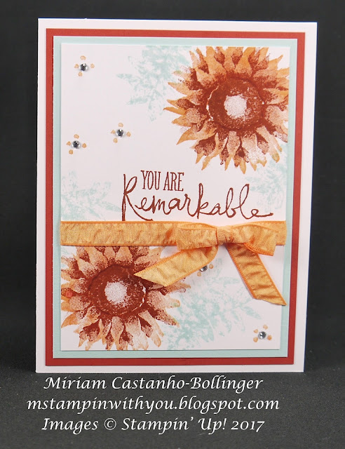 Miriam Castanho-Bollinger, #mstampinwithyou, stampin up, demonstrator, dsc, all occasions card, painted harvest stamp set, remarkable you stamp set, su