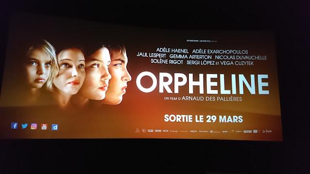 Visuel de l'avant première du film Orpheline