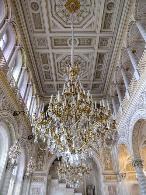 Chandelier inside the Hermitage in St. Petersburg, Russia