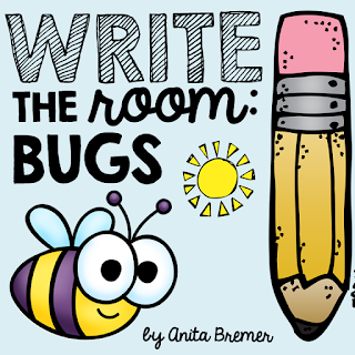 Bug themed Write the Room literacy activity center- great for vocabulary building and active learning!
