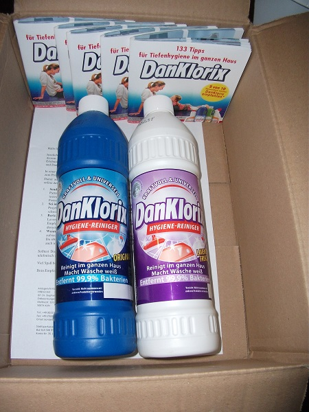 Danklorix in die waschmaschine geben