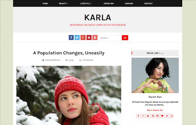 Karla Responsive Blogger Template BTDesigner screenshot