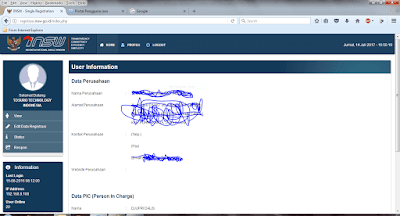 Update data NIK , Username akun pengguna jasa beacukai