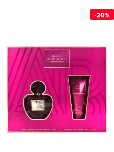 Antonio Banderas Set cadou Antonio Banderas Her Secret Temptation (Apa de toaleta 50 ml + Lotiune de corp 50 ml), Pentru Femei