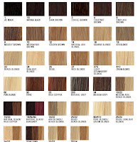 Hair extension colour chart