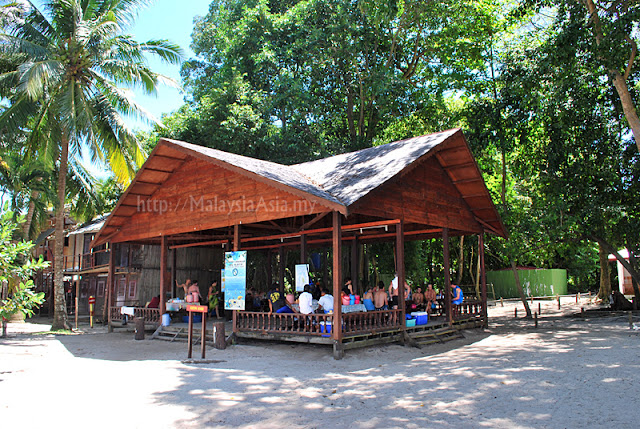 Dive rest area in Sipadan