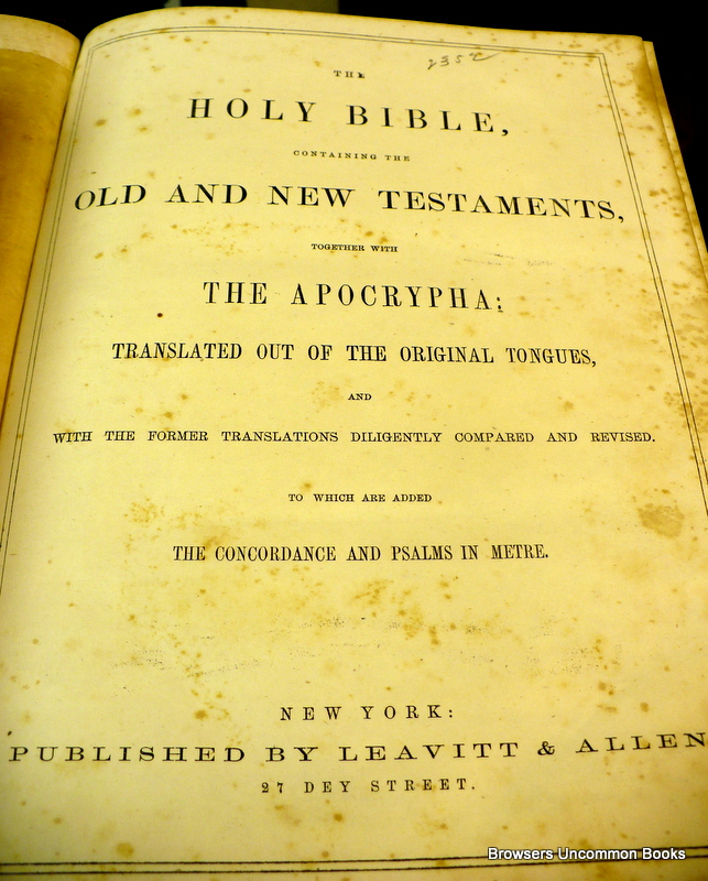 uncommonbooks: Bibles at Browsers Uncommon Books