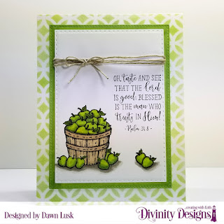 Divinity Designs Stamp Set: Fruit of the Spirit, Mixed Media Stencil: Circles, Custom Dies: Double Stitched Rectangles, Pierced Rectangles